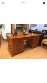 Desk solid mahogany