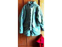 Men's Fred Perry beige parka size medium