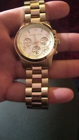 Micheal Kors MK 5055 gold 100% genuine!!!