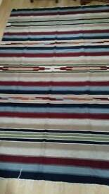 2 extra large Egyptian pure wool rugs/mats