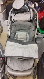 Buggy, cosy toes, nappy bag, rain cover and car seat