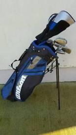 Wilson golf clubs plus accessories