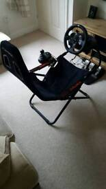 G920 Steering wheel,pedals,shifter + folding playseat challenge chair bundle