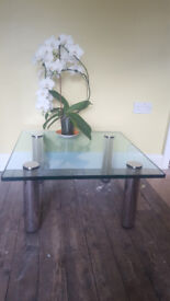 Tempered glass coffee table very heavy