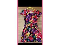Lipsy London floral skater dress size 10