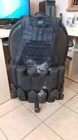 Paintball jacket hopper pod belt with pods