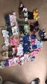 Build A Bear clothing. This includes lots of full outfits including shoes and accessories