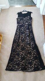 Ladies long formal black dress