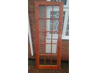 6 Internal glazed pine doors