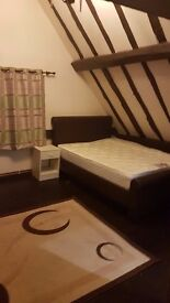 Large en - suite double room available in a character house