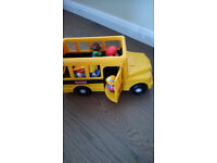 Fisher Price Little People school bus with passengers