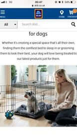 Large dog crate from Aldi