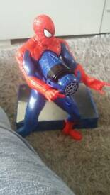 Spiderman character with web maker