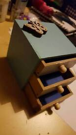 Bespoke handmade jewellery box