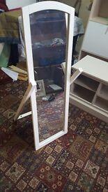 Brand new white mirror on stand £25