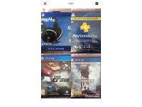 PlayStation 4 package (2 games, headset, 3 months online)