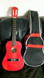 Acoustic 1/2 guitar red