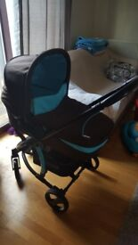 Hauck Pram with brand new buggy attachment, still in the bag. Comes with instructions.