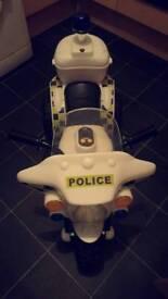 Police electric motor bike