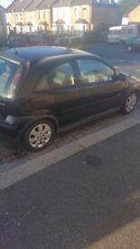 Black Vauxhall corsa 1.2 sxi low millage