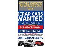 All scrap cars wanted in Huddersfield cars vans 4x4 trucks