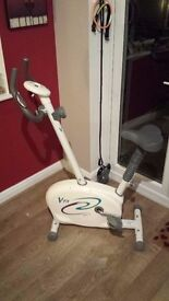 Exercise bike with adjustable resistance and monitor