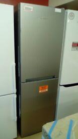 HOTPOINT silver fridge freezer new ex display