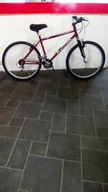 "Red Fire Mountain Kona Mountain Bike, 26"" Wheels, 21 Speed, 21"" Frame"