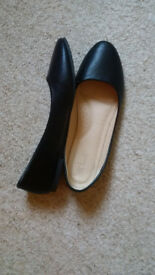 Black Ballerinas, size UK6.5/EU39
