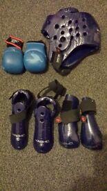kick boxing tae kwondo gloves headgear protective