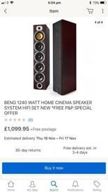 Being 1240 Watt Home Cinema Speaker System