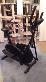 Exercise bike/cross trainer