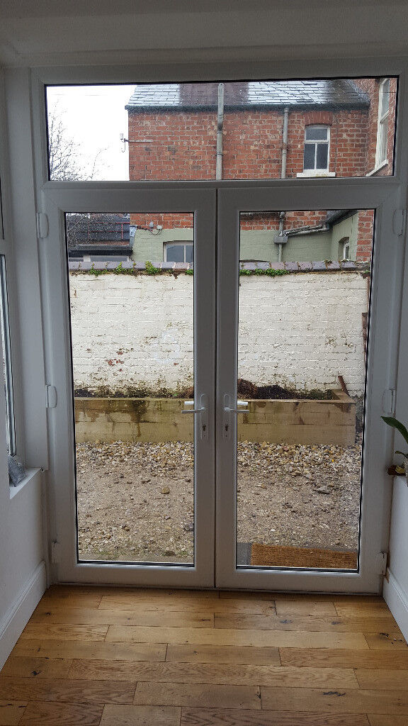 uPVC Double doors and side windows for sale
