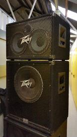 Peavey 210TX & 115BX BW Bass Guitar Speaker Stack (4ohm each)