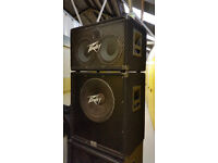 Peavey 210TX & 115BX BW Bass Guitar Speaker Stack (4ohm each)