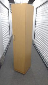 Wheeled single wardrobe & bed frame. Price negotiable. £40 for all or buy individually