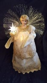 """Large, mains operated fibre optic angel, 28""""/71cm tall"""