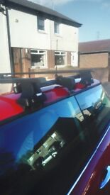 Mini cooper roof rack thule 02 to 06 with locking keys perfect condition