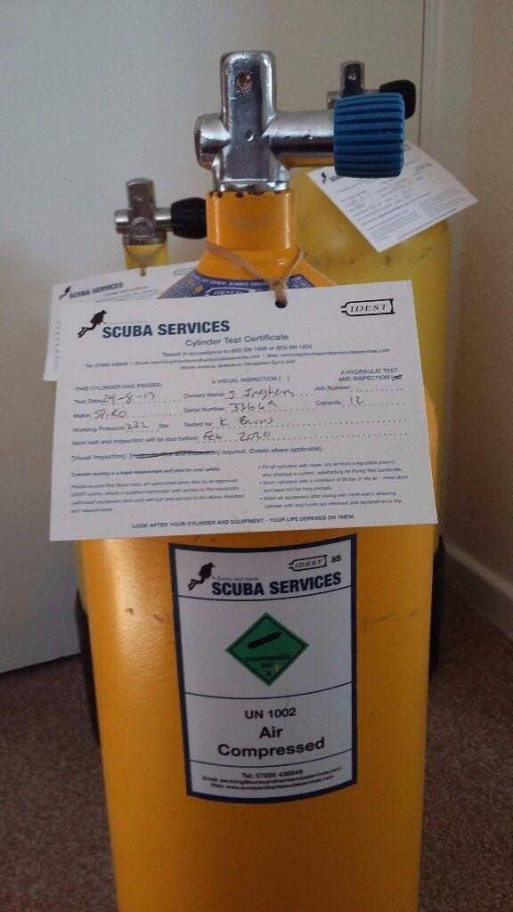 10 litre steel diving cylinder