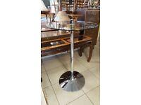 Chrome & Rotating Glass Bistro Table