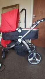 Pram/buggy and car seat
