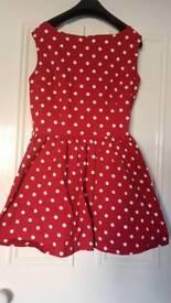 Red polka dot Lindy-bop dress, worn once