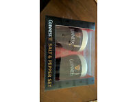 Guiness salt and pepper condiment set - brand new
