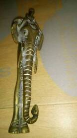Elephant nut cracker Africa, brass 1935 gwo
