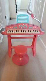 Early Learning Centre Piano, microphone and stool