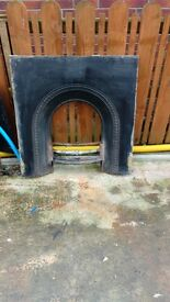 Fireplace metal inset £20