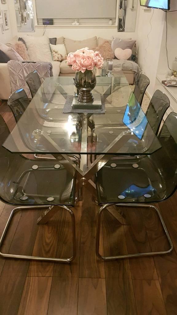 6 Ikea Tobias Chairs In Smoke Grey 150 Ono