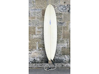 SHIPPING, Gulf Stream Surfboard 7'0, thruster, 50L, mid-length, mal, SET, fins, bag, leash