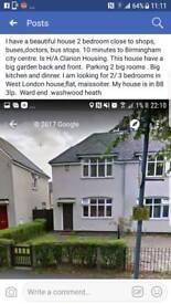URGENT!!!! House swap Birmingham to west London