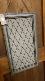 Vintage Style Grey Noticeboard never used